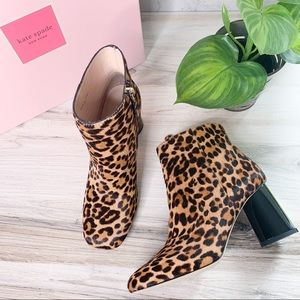Kate Spade Rudy Leopard Print Haircalf Booties